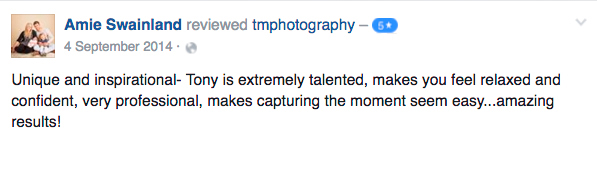 Essex Photography Studio testimonial